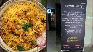 Biryani War: Twitterati Lock Horns as Pune Restaurant Hails Hyderabadi Biryani, Calls All The Others as 'Pulao'