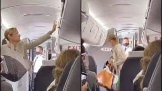 Maskhole! Woman Thrown Out of Plane For Refusing to Wear Face Mask While Travelling Amid COVID-19 | WATCH