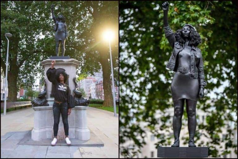 After Being Thrown in Bristol Harbour Last Month, Slave Trader Edward Colston's Statue Replaced by Sculpture of Black Protester Jen Reid