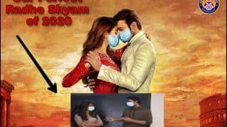 After Mumbai Police Makes Monica-Chandler Wear Masks, Assam Police Does Same With Pooja Hegde-Prabhas on Poster of Radhe Shyam