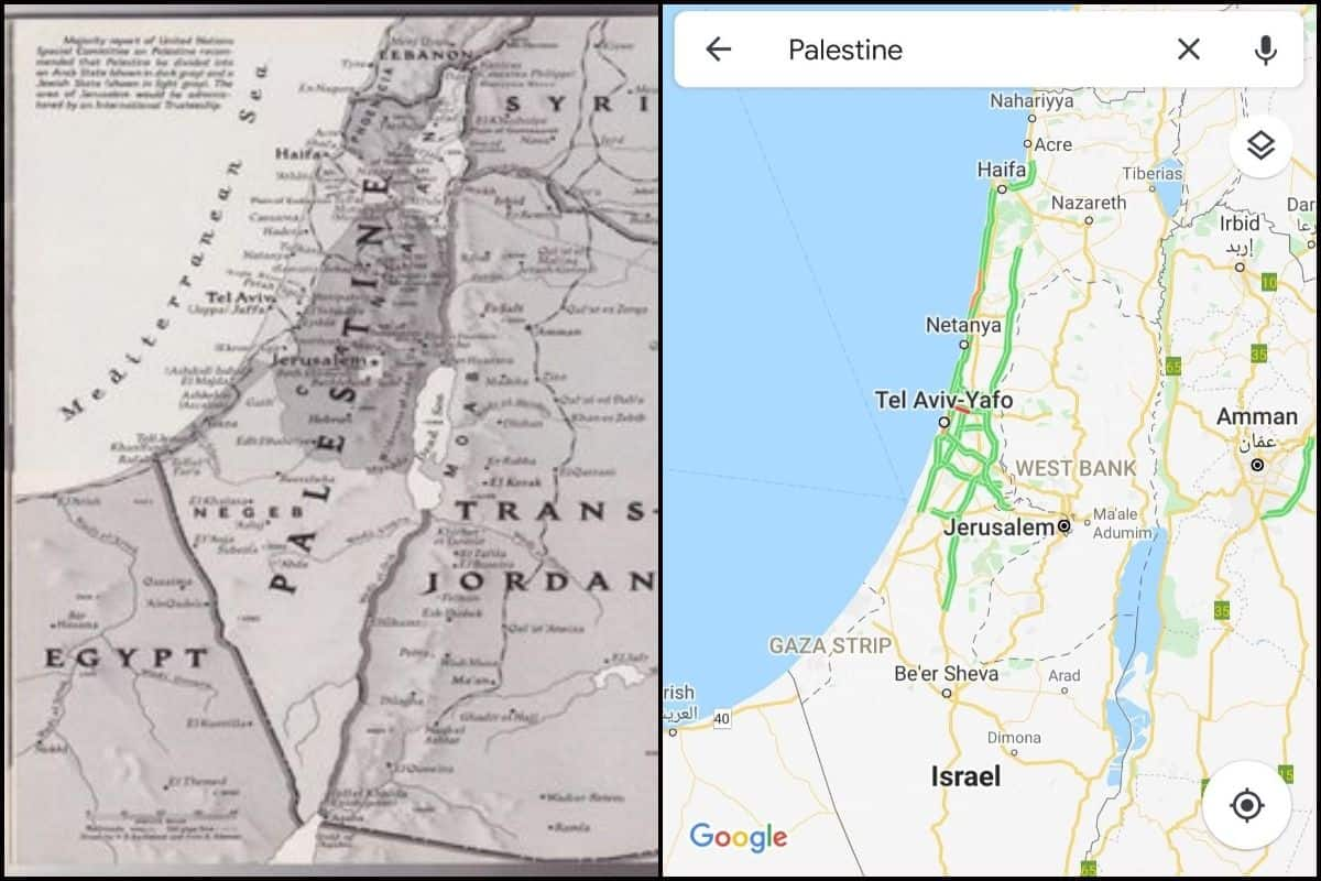 Image of: Breaking American Tech Giants Google Apple Remove Palestine From World Maps Replace With Israel India Com