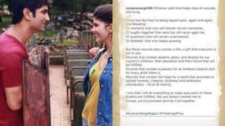 Dil Bechara Actor Sanjana Sanghi Shares Heart-warming Note For Sushant Singh Rajput, Says 'Moments Will Now Remain Memories'