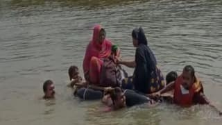 Watch: Pregnant Woman Taken to Hospital on Makeshift Boat Amid Floods in Bihar's Darbhanga