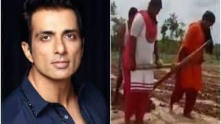Sonu Sood Gifts Tractor to Andhra Pradesh Farmer Who Was Seen Ploughing With His Daughters | Watch Viral Video