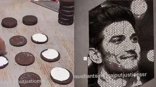 Fan Creates Sushant Singh Rajput's Face Using Oreo Biscuits, Watch The Viral Video Here