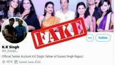 Fact Check: Sushant Singh Rajput's Father Has Not Demanded CBI Inquiry, He is Not on Twitter