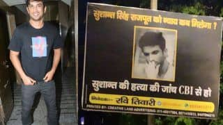 Sushant Singh Rajput's Fans Put up Hoardings in Delhi's CP Area Demanding CBI Inquiry - See Viral Photos