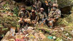 J&K: आतंकियों की कश्मीर में युद्ध जैसी तैयारी, हथियारों का भारी जखीरा जब्त