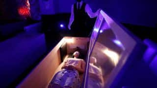 This Japan Company is Offering Coffins, Chainsaws & Zombies to Help People Deal With Covid-19 Stress