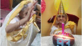 Kolkata Grandma Dances to 'Aankh Maarey' on Her 93rd Birthday, Leaves The Internet Smiling   Watch