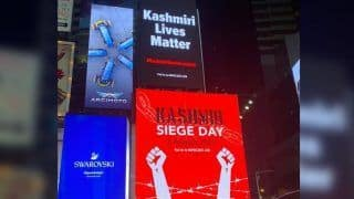 Instead of 3D Images of Lord Ram, New York's Times Square Lights up With 'Kashmiri Lives Matter' Messages