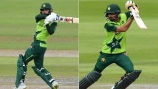Eng vs pak 2nd t20i babar azam mohammad hafeez fifty set 196 run target for england 4126437