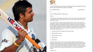 जम्मू-कश्मीर में क्रिकेट को बढ़ावा देना चाहते हैं सुरेश रैना; DGP को खत लिखकर की अपील