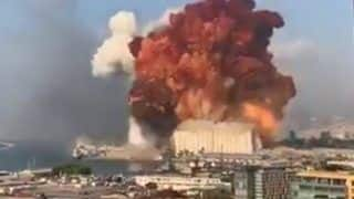 Breaking | Terrifying Videos Emerge on Twitter As Massive Explosion Rocks Lebanon's Beirut, 10 Feared Dead | Watch