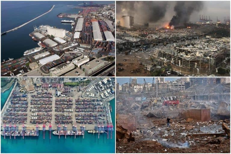 These 'Before & After' Images of Beirut Show the Extensive Destruction Caused By Explosion