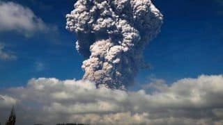 Indonesia's Mount Sinabung Volcano Erupts, Spews Ash 5,000 Metres High Into Sky | Watch
