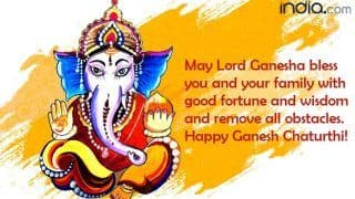 Happy Ganesh Chaturthi 2020: Best Ganpati Messages, WhatsApp Greetings, Facebook Status, Quotes, Wishes, SMS to Share With Family And Friends