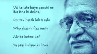 Gulzar Birthday Special: Have a Look at These Poems (Nazms) Penned by The Wordsmith