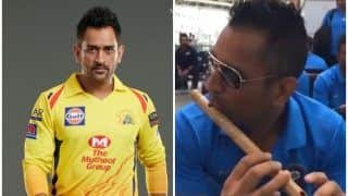 WATCH | CSK Share Unseen Footage of Dhoni Playing The Flute on Janmashtami