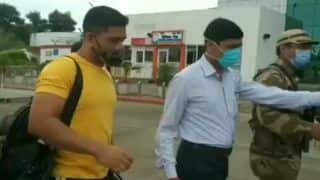 WATCH | Dhoni Leaves From Ranchi to Join CSK Training Camp in Chennai
