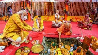 Diyas, Earthen Lamps Light up Ayodhya as PM Modi Lays Foundation For Ram Temple, Says 'Long Wait Ends Today' | Top Developments