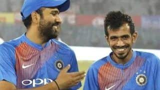 Rohit sharma congratulates yuzvendra chahal for engagement in his way 4106127