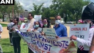 Indian-Americans Protest in Washington DC Against China's Encroachment, Human Rights Violation