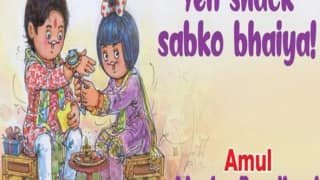 Raksha Bandhan 2020: Amul Celebrates The Brother-Sister Bond With an Adorable Doodle, Calls it 'Maska Bandhan'