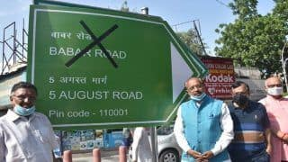 Delhi's Babar Road to be Renamed as '5 August Marg', Claims BJP Leader Day Ahead of Ram Mandir Ceremony