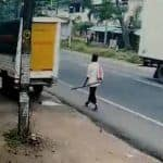 'Luckiest Man': Kerala Man Miraculously Escapes Being Hit by Speeding Vehicle, Video Goes Viral | Watch