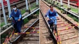Watch: Indian Railways Introduces 'Rail Bicycle' For Its Staff To Aid Track Inspection And Monitoring