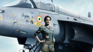 कंगना रनौत ने की राजनाथ सिंह से मुलाकात, फिल्म 'तेजस' के लिए लिया आशीर्वाद