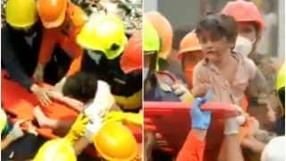 Raigad Building Collapse: NDRF Personnel Rescue a 4-Year-Old Boy Trapped Under Debris For 19 Hours | Watch Viral Video