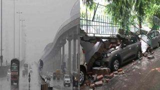 Delhi Weather UPdate News: दिल्ली-एनसीआर में भारी बारिश से जनजीवन प्रभावित, कहीं गिरी दीवार तो कहीं लगा लंबा जाम