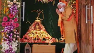 'Jai Shri Ram' Echoes on Twitter As PM Modi Lays the Foundation Stone For Ram Temple in Ayodhya