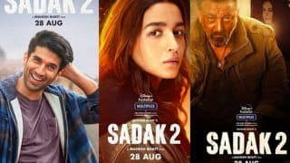 Ahead of Sadak 2 Trailer, Makers Unveil Intriguing Character Posters of Alia Bhatt, Aditya Roy Kapur, Sanjay Dutt