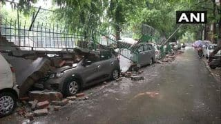 Rains in Delhi: Wall Collapses, Several Cars Damaged in Saket