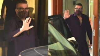 Sanjay Dutt Back Home From Lilavati Hospital, Looks All Fit And Fab as he Waves to The Cameras