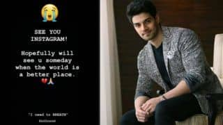 I Need to Breathe: Sooraj Pancholi Feels Suffocated, Quits Instagram, Deletes All Pics Except One