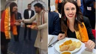 New Zealand PM Jacinda Ardern Visits Radha Krishna Temple in Auckland, Relishes 'Chhole-Puri' | Watch