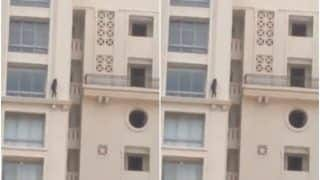 Heart-Stopping! Unverified Video of a Girl Walking on Ledge of High-Rise Apartment Goes Viral | Watch