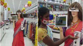 Dressed in Saree, Robot 'Zafira' Scans Customers For Masks & Dispenses Sanitiser at Tamil Nadu Store