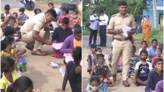 Before Reporting For Duty, This Bengaluru Cop Teaches Children of Migrant Workers Everyday For An Hour