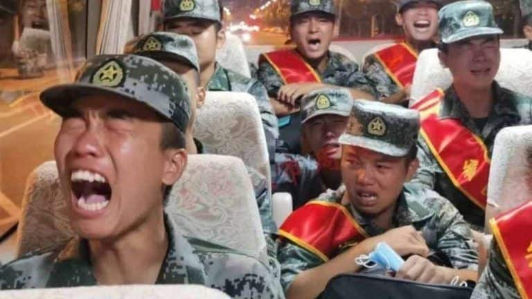 Watch: Chinese Soldiers Seen Crying on Their Way to India Border, Video Goes Viral