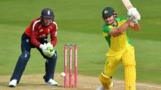 Eng vs aus 2nd t20i aaron finch 40 run inning helps australia to 157 7 in 20 over 4133506
