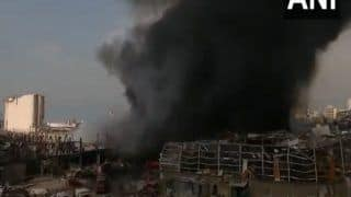 Days After Lebanon Blast, Another Huge Fire Triggers Panic Among Residents in Beirut; Cause of Blaze Unknown