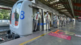 Blue, Pink Lines of Delhi Metro Resume Services After 171-Day Hiatus, Commuters Elated | See Pics