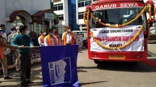 Open-Roof Tourist Luxury Bus For Suchetgarh Border Launched on World Tourism Day in Jammu
