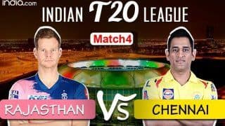 Rajasthan Royals vs Chennai Super Kings Match 4 Highlights: Steve Smith, Rahul Tewatia Star as Royals Beat Dhoni's CSK by 16 Runs