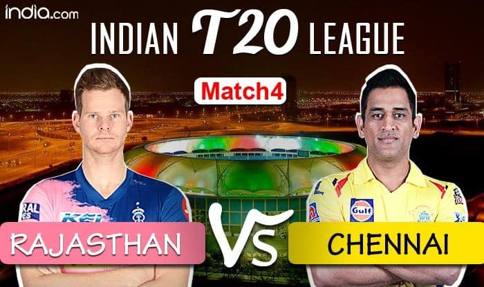 Rajasthan Royals Beats Chennai Super Kings By 16 Runs Rr Vs Csk Dream11 Ipl 2020 Match 4 Live Cricket Score And Updates Rajasthan Royals Vs Chennai Super Kings India Com Cricket News Dream11 Ipl
